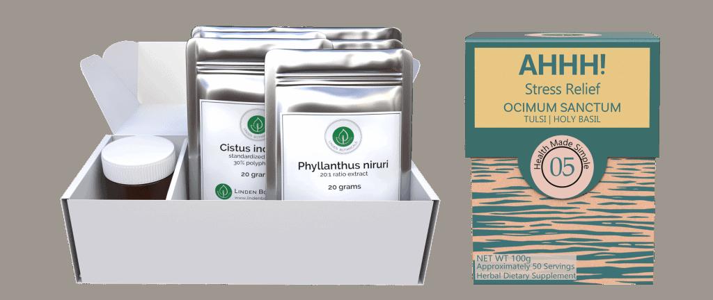 ShieldsUp and Ahhh Stress Relief Support (Ocimum sanctum)