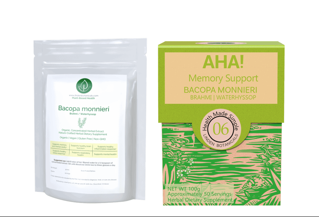 Bacopa Monnieri - Bacopa Extract - AHA Memory Support - Linden Botanicals