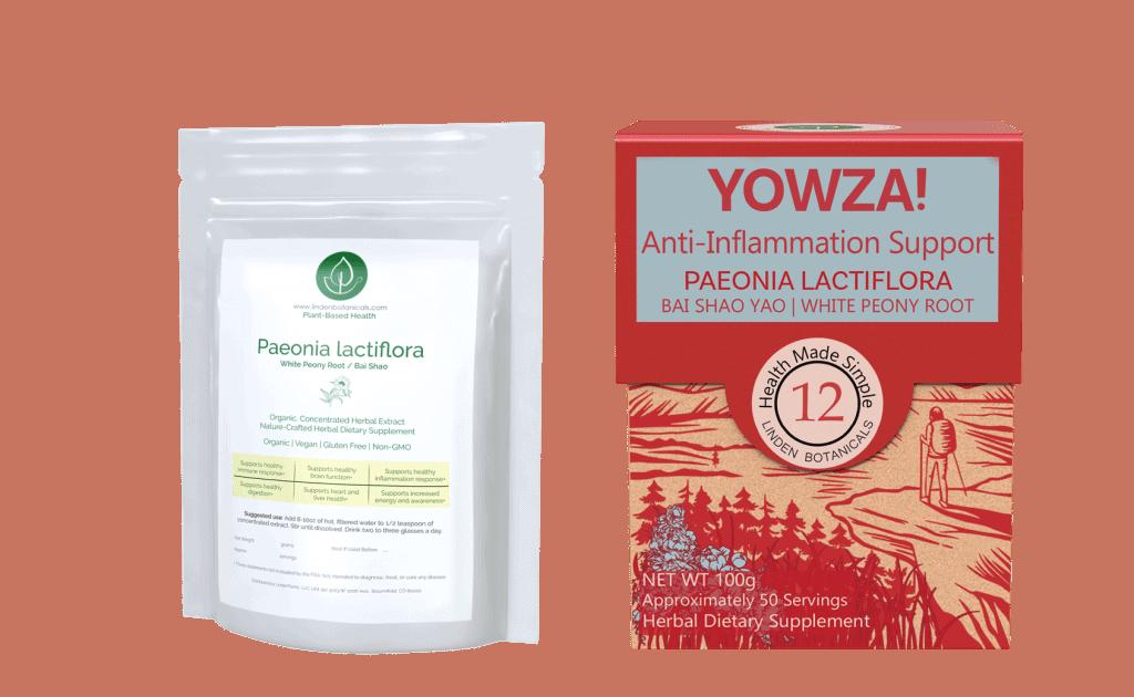 Paeonia lactiflora YOWZA Inflammation Support - Linden Botanicals