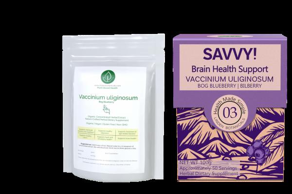 Vaccinium Uliginosum - SAVVY Brain Health Support - Linden Botanicals